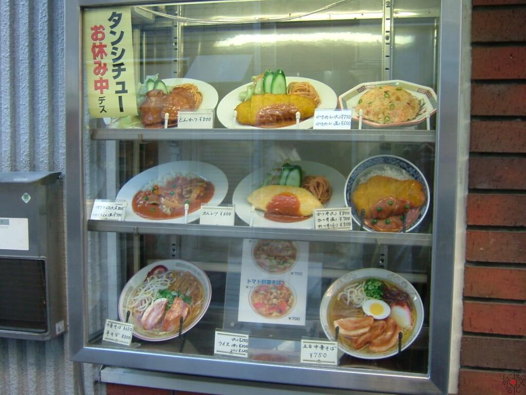 食堂のカツ丼サンプルにはデミカツ丼