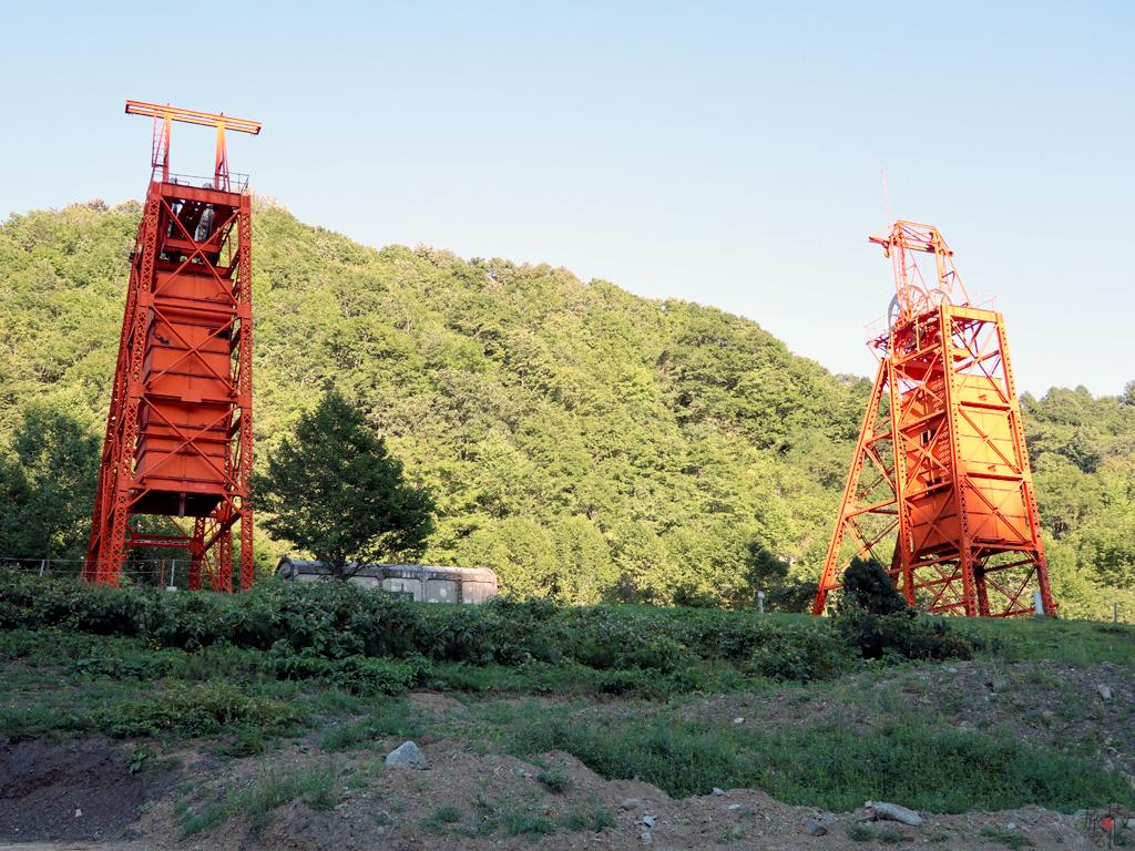 中心街から離れた美唄の炭鉱跡は無人で、廃墟に近づきつつある
