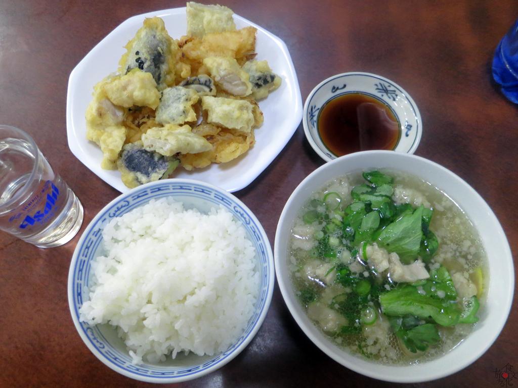 「たかま」のホルモンの天ぷら