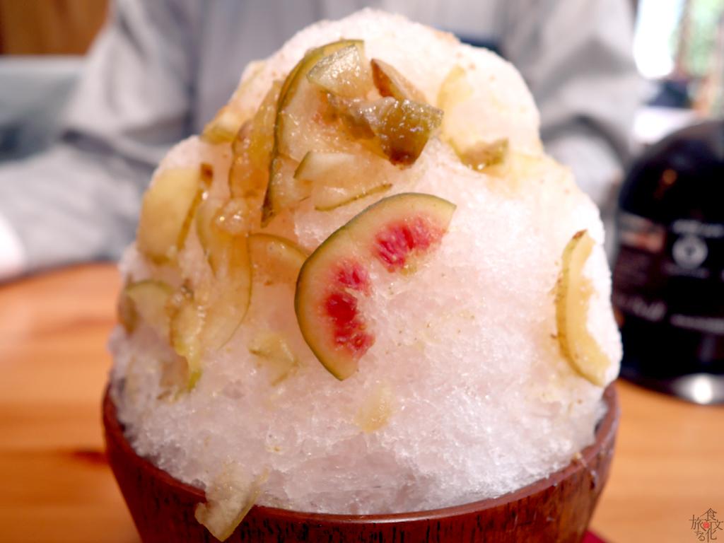 日本いちじくのかき氷